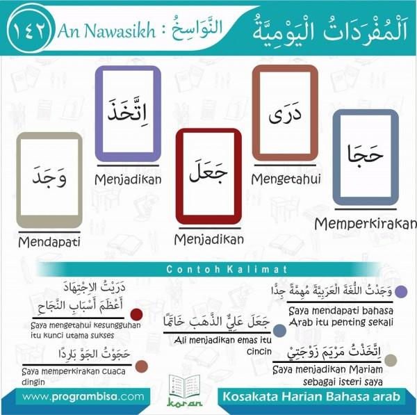 kosa kata harian bahasa arab 142