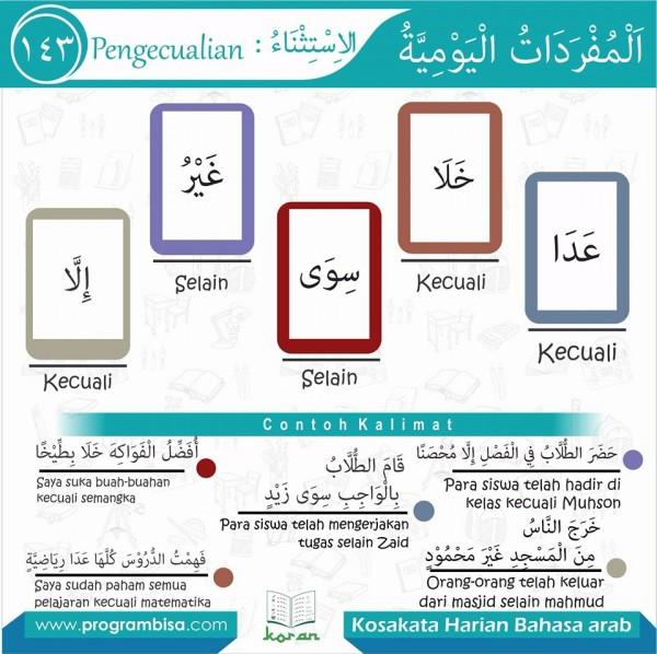 kosa kata harian bahasa arab 143