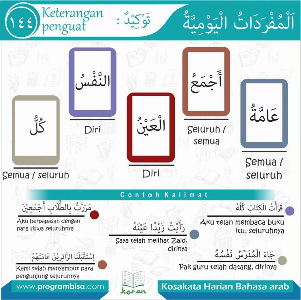 kosa kata harian bahasa arab 144