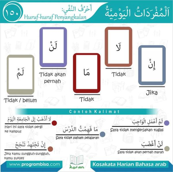 kosa kata harian bahasa arab 150
