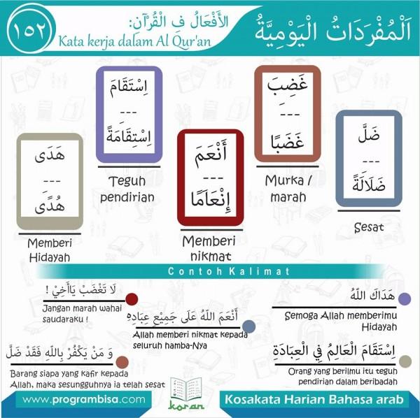 kosa kata harian bahasa arab 152