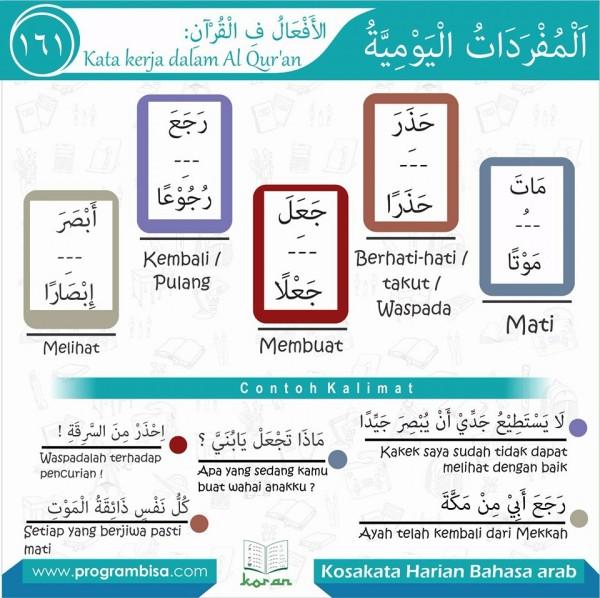 kosa kata harian bahasa arab 161