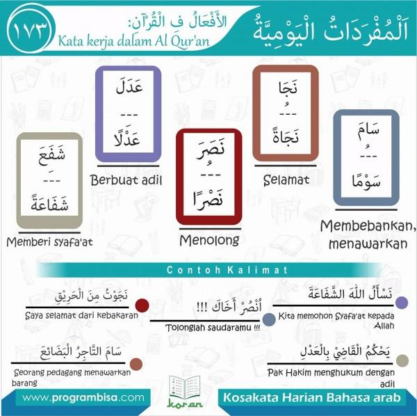 kosa kata harian bahasa arab 173