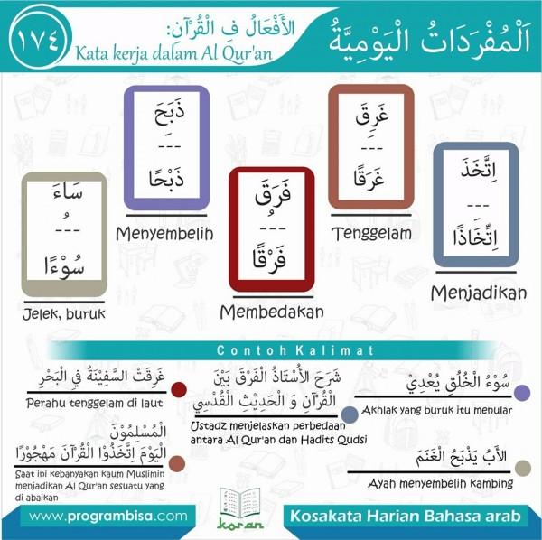 kosa kata harian bahasa arab 174