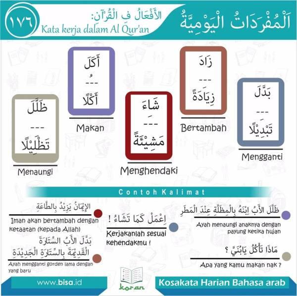 kosa kata harian bahasa arab 176