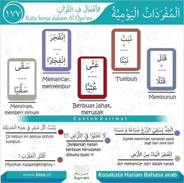 kosa kata harian bahasa arab 177