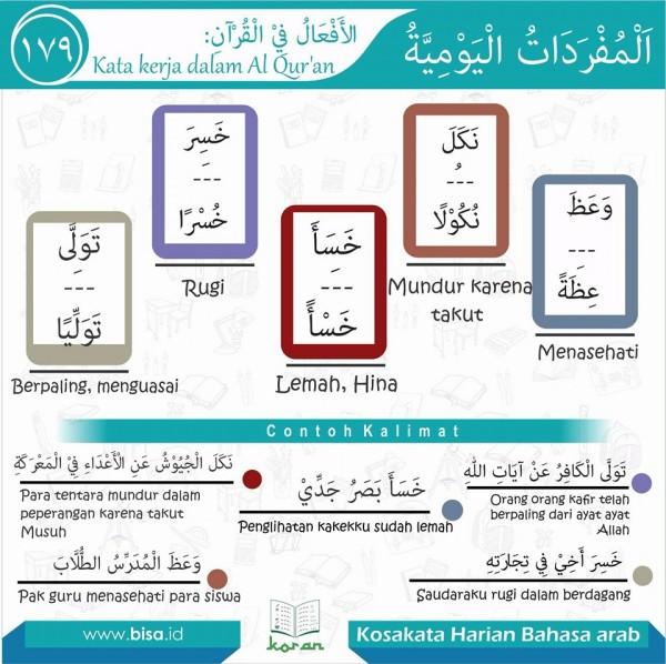 kosa kata harian bahasa arab 179
