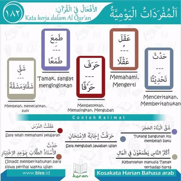 kosa kata harian bahasa arab 182