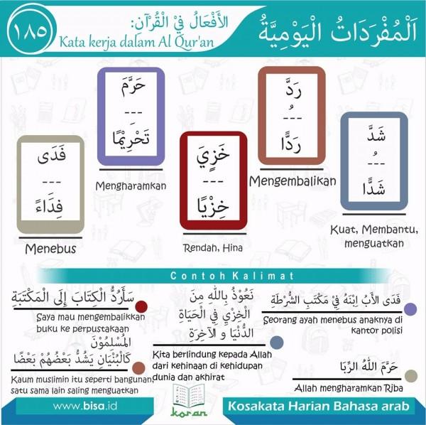 kosa kata harian bahasa arab 185