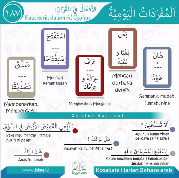 kosa kata harian bahasa arab 187