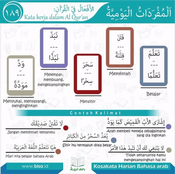 kosa kata harian bahasa arab 189