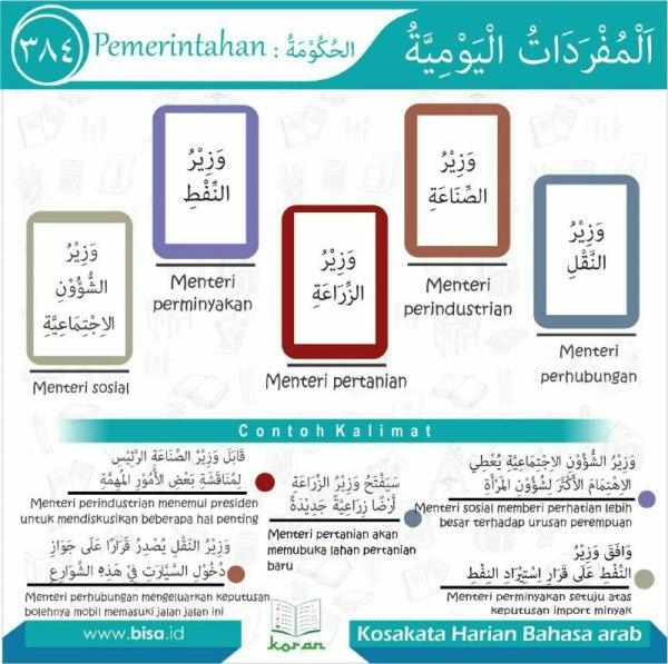 kosa kata harian bahasa arab 384