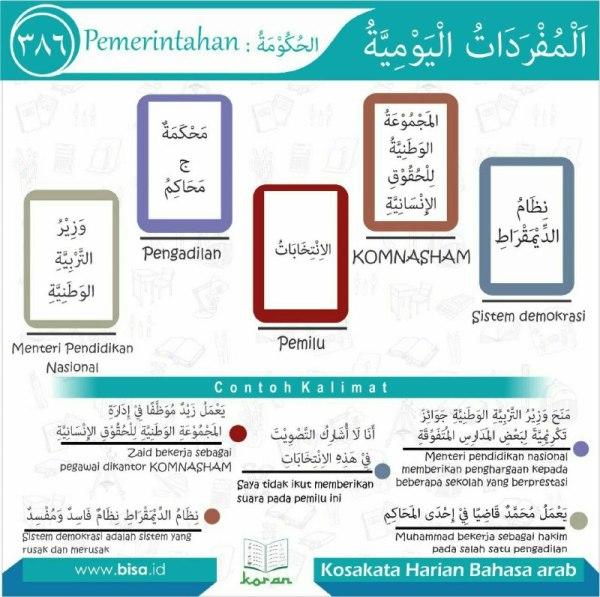 kosa kata harian bahasa arab 386
