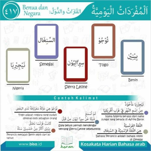 kosa kata harian bahasa arab 417