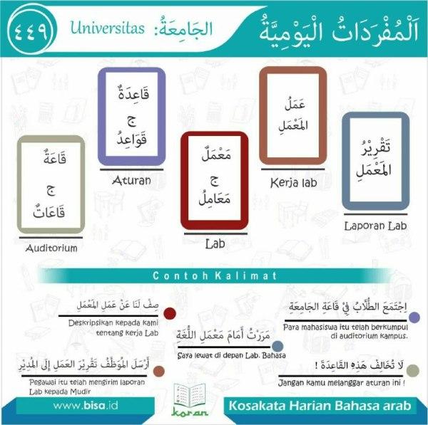 kosa kata harian bahasa arab 449